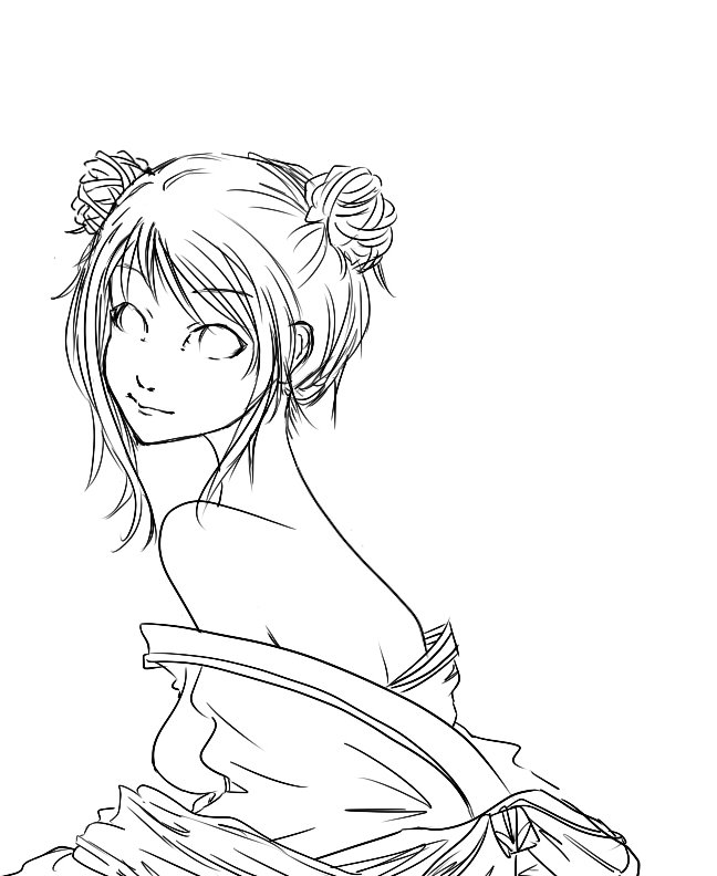 Fem China lineart by Spining