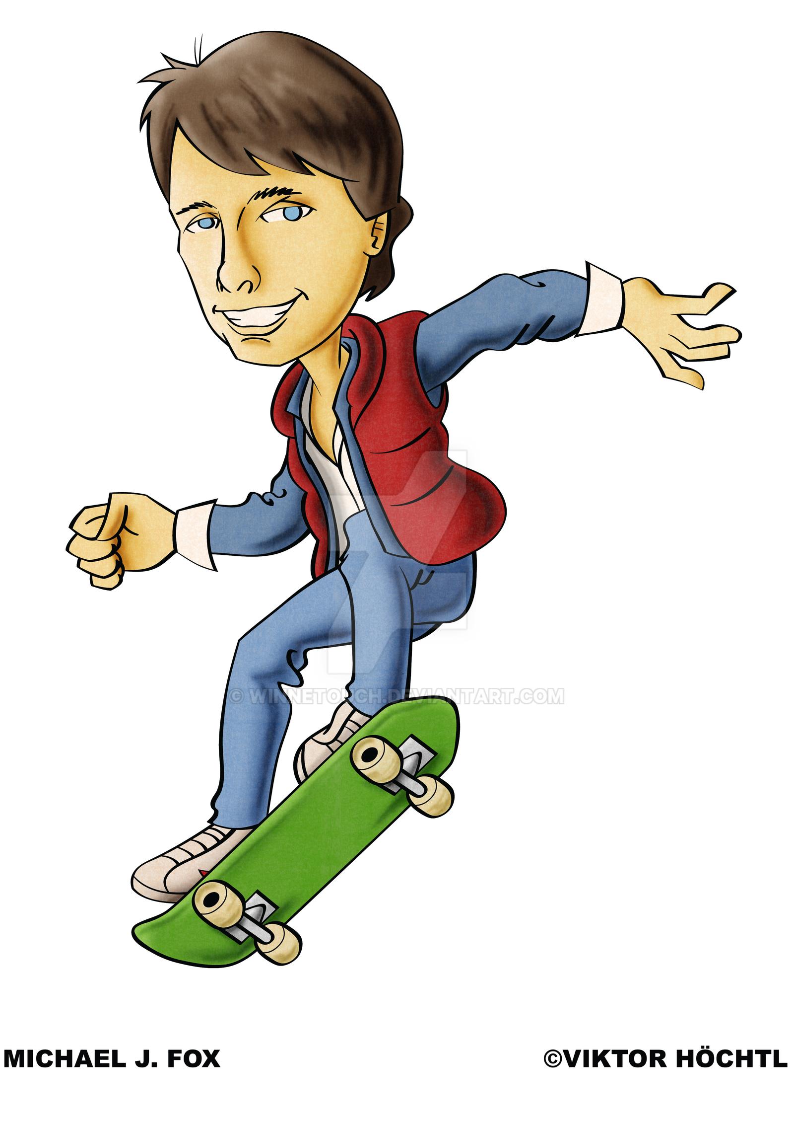 Michael J. Fox aka Marty Mcfly by winnetouch