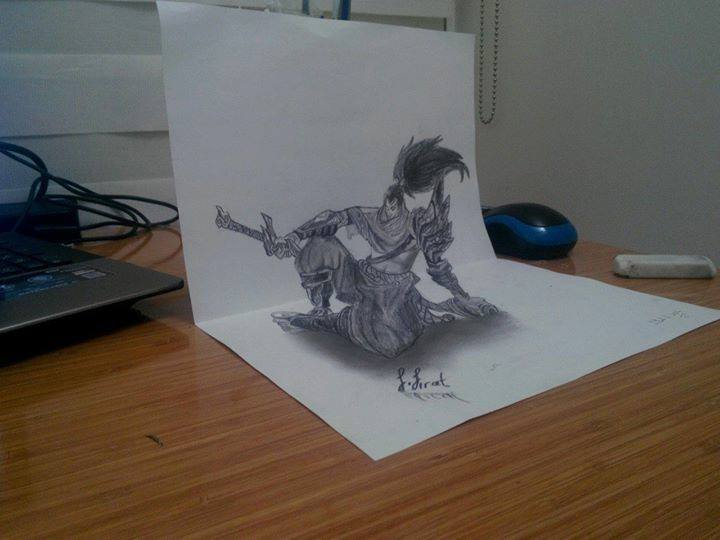 Yasuo 3D Drawing