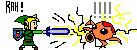 Link Pwning Octorok by Letviathan