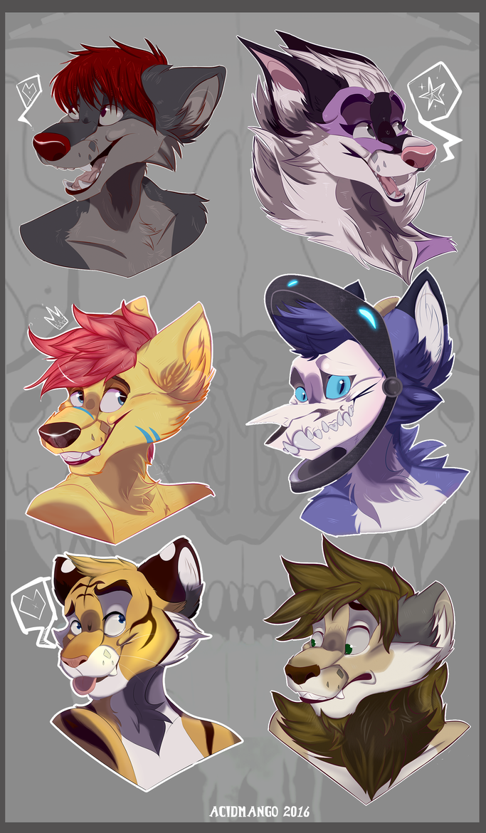 Headshot badges Oct-Dec 2016 by ChaoticDrakness