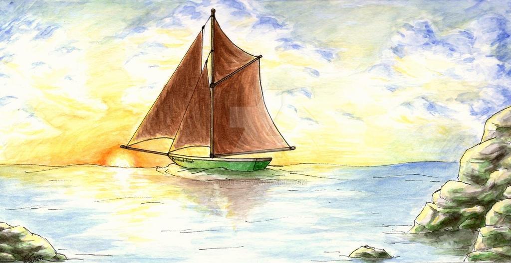 Boat landscape by Girole