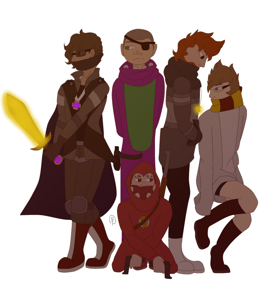 -0-[Fullbody]-0- Assassin YouTubers by AidanTheGaymer