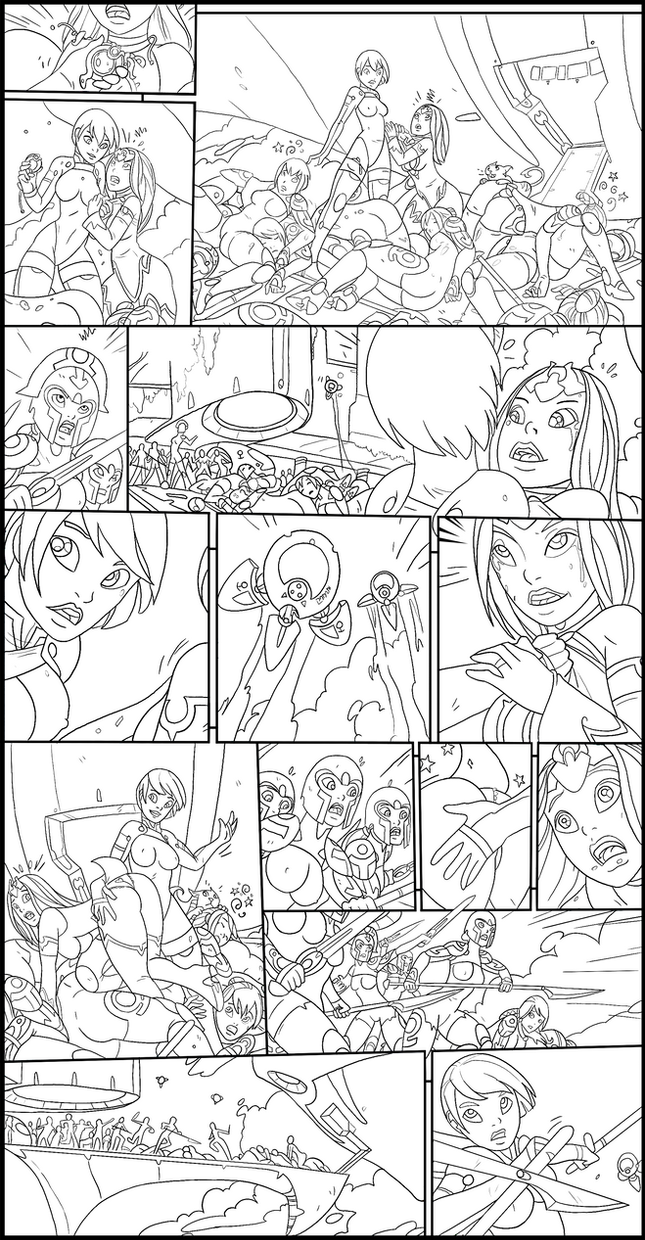 Sci-fi Comic Page5 Inked by Forecaster71