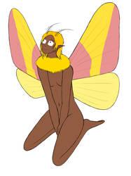 Rosy Maple Moth Girl