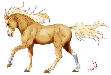 Random palomino horse