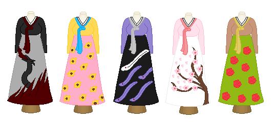 Hanbok Dresses by Ichigoslover101