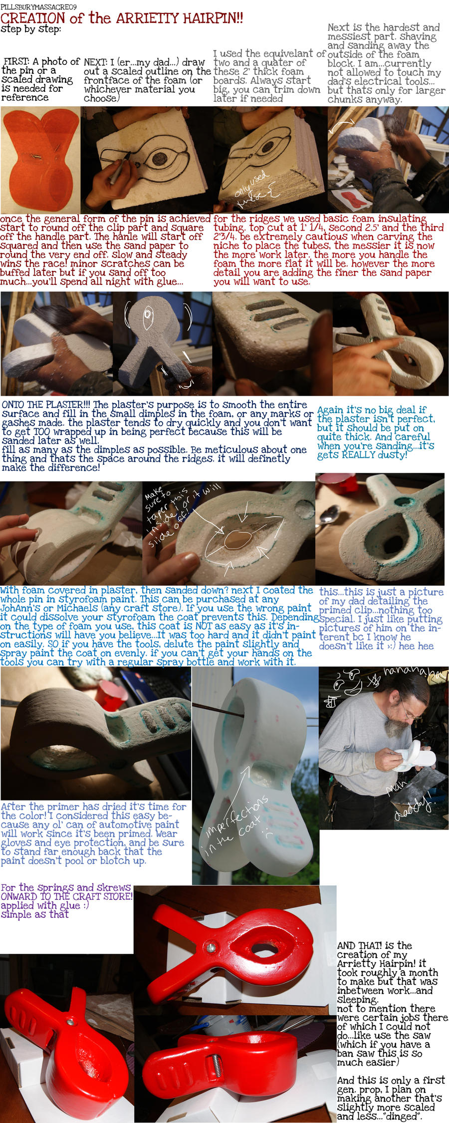 Arrietty HairPin Creation by PillsburyMassacre09