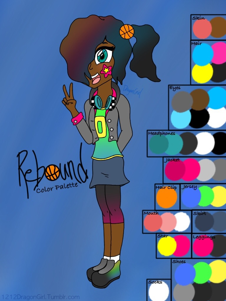 Rebound's Color Palette by 1212DragonGirl