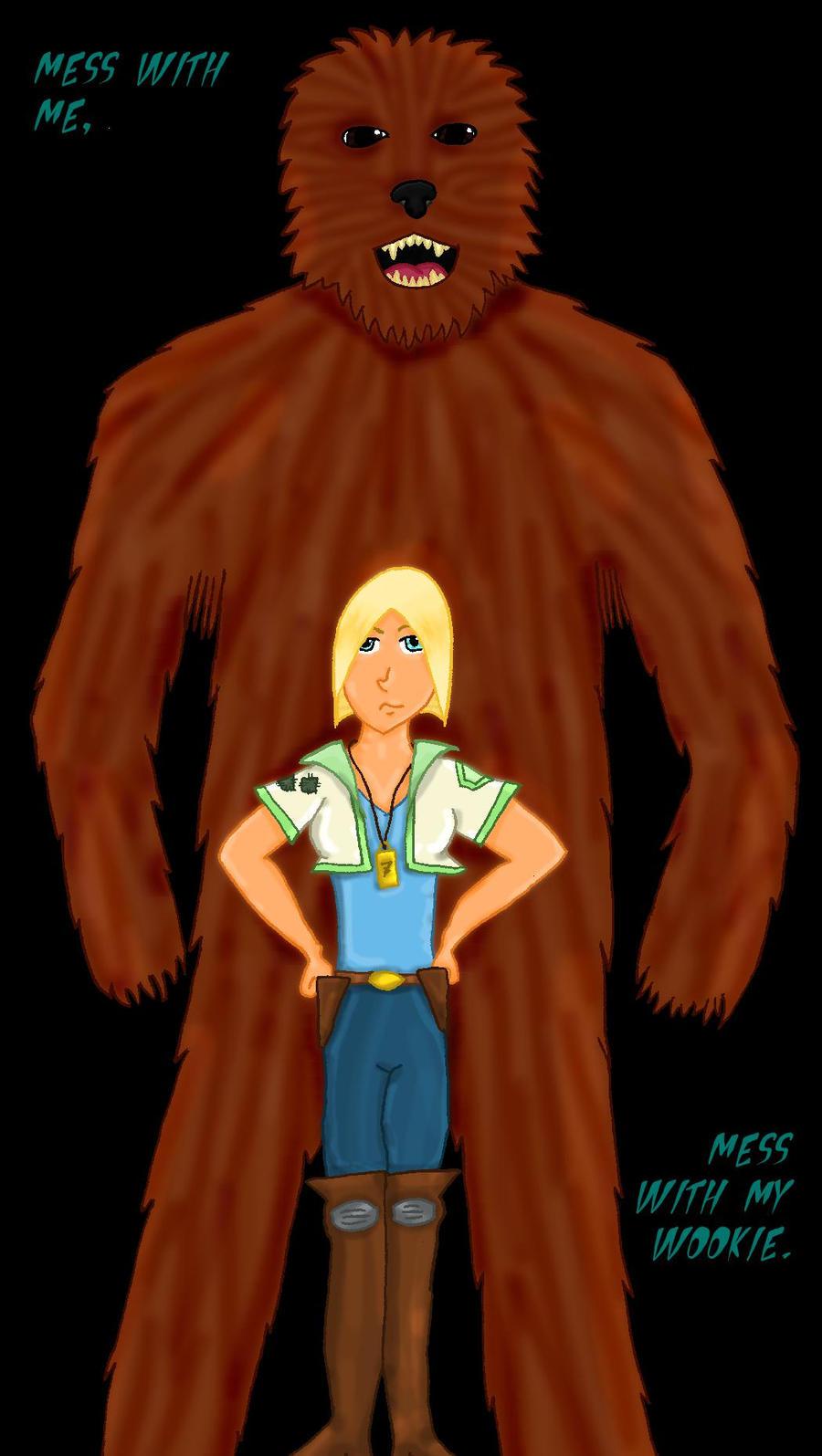 Me and my Wookiee by Feline-Jaye
