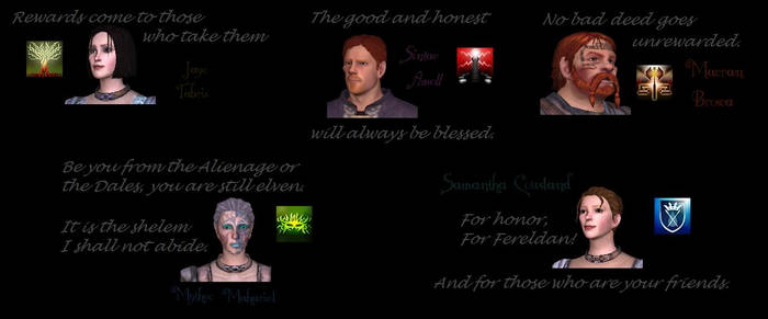 Character Taglines: Dragon Age