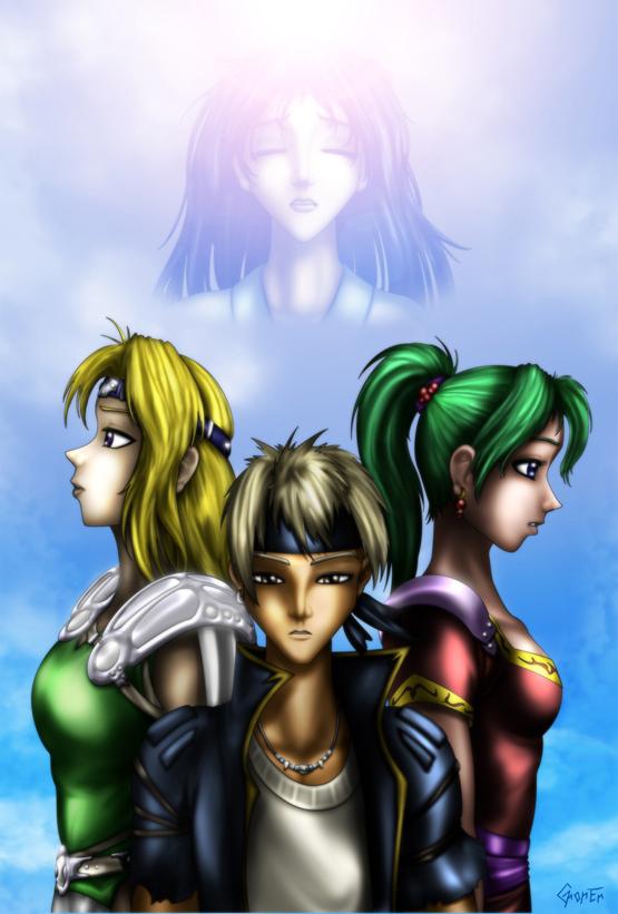 FF6 Celes, Locke and Terra by ghoner on DeviantArt