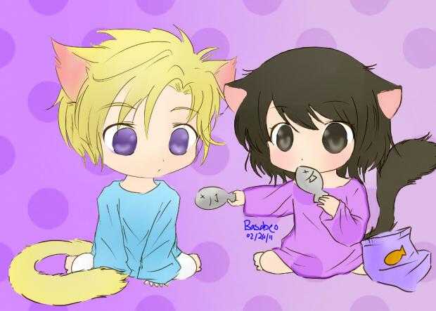 Haruhi and Tamaki  Want Some  by basabeoHaruhi And Tamaki Hug