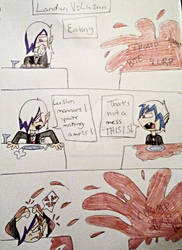 Landon VS. Lusion (Eating) by MySancuaryLittlePony