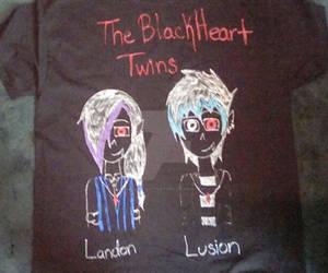 My BlackHeart Twins T-Shirt by MySancuaryLittlePony