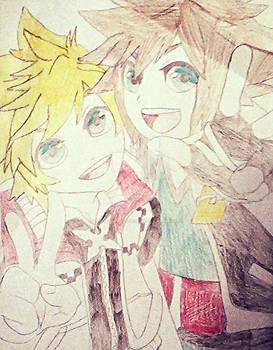 Roxas and Sora (Kingdom Of Hearts)