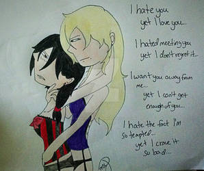 I Hate You But I Crave You (AU GeneveeXLinea ) by MySancuaryLittlePony