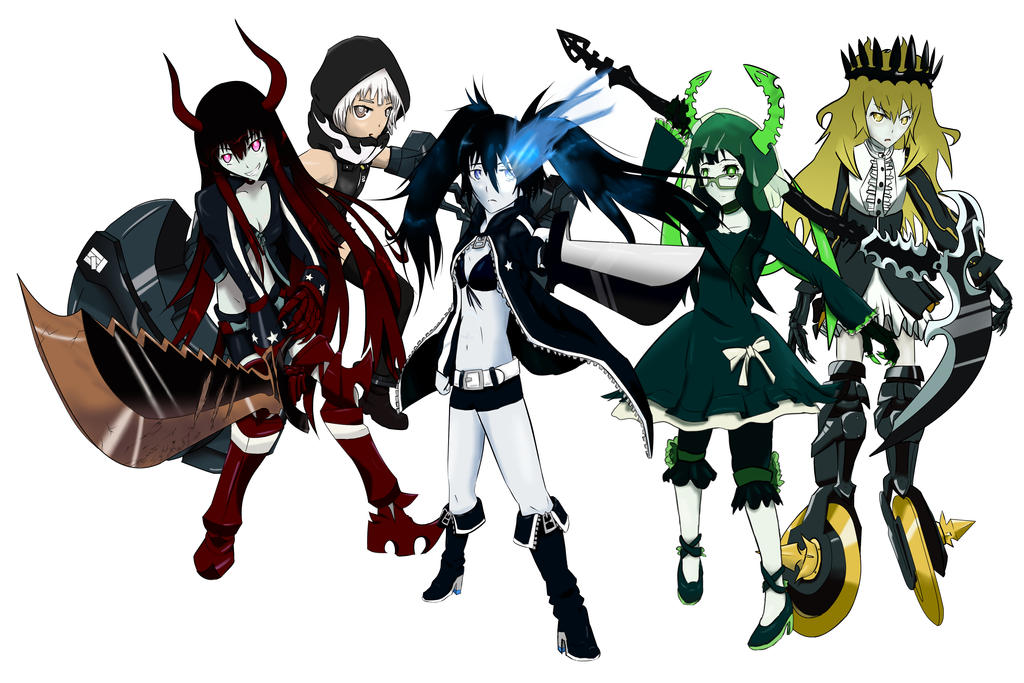 Black rock shooter characters wallpaper by SibArtsmen on ...