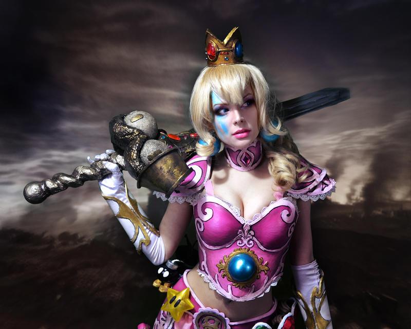 Warrior Princess Peach by HannahEva