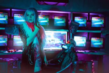 Cyberpunk 2077 braindance by love-squad