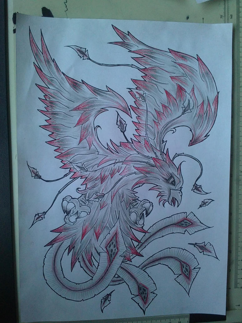phoenix tattoo design color by: Jeromy's blog