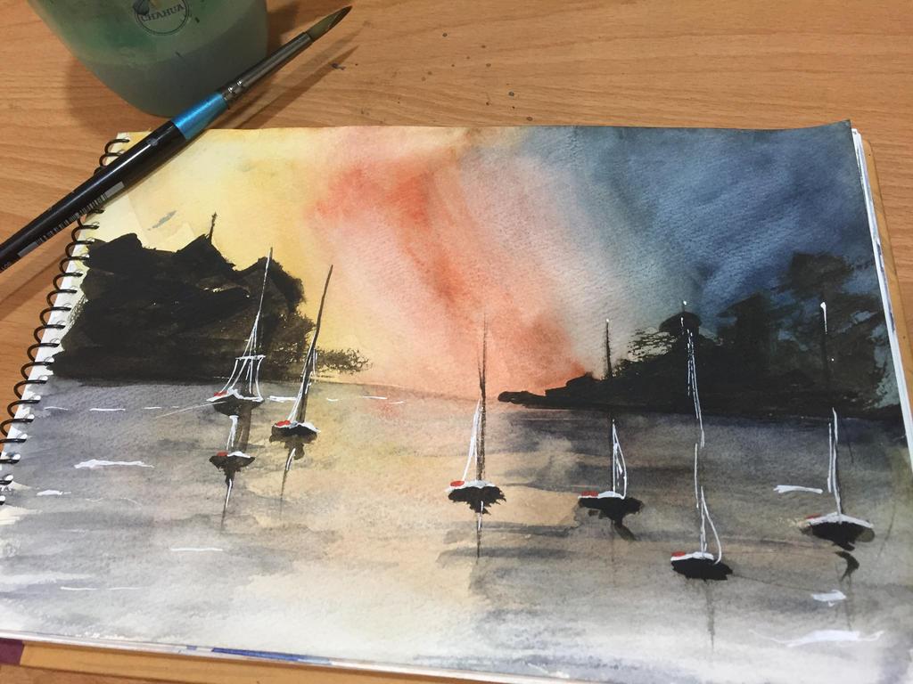 Sea sketch by Jayde791