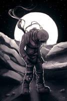 Sad Spaceman by Natashane