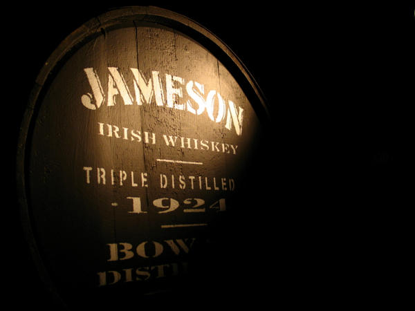 barrel of jameson whiskey