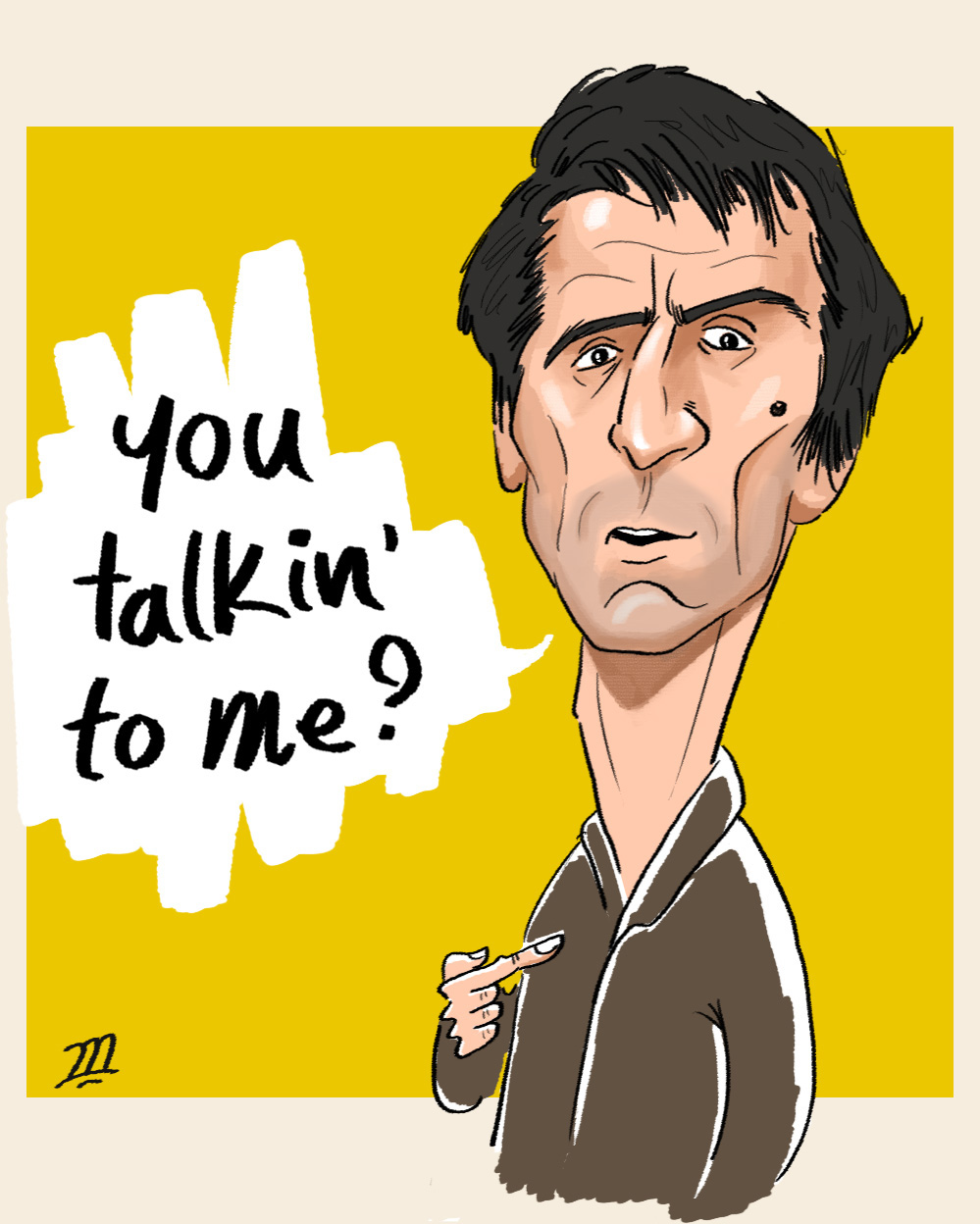 you talkin to me robert de niro in taxi driver by mohammad222 on deviantart. Black Bedroom Furniture Sets. Home Design Ideas