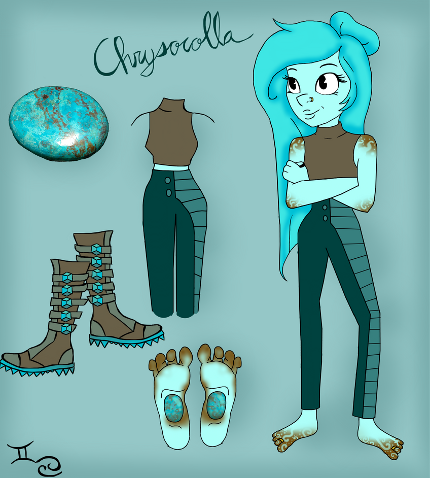 Gemsona - Chrysocolla by AcrylicBanter
