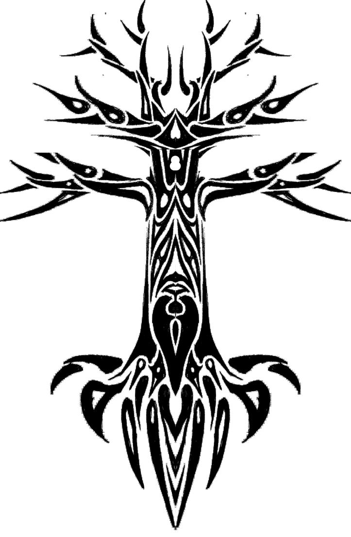 Tribal Tree Of Life: Tribal Tree Design By Fraxuur On DeviantArt