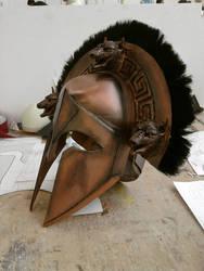 Ancient Greek Cerberus Helmet 2 by Fraxuur