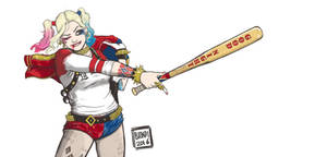 Harley Quinn Suicide Squad - Fanart by B-on-D