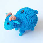 Christmas toy  Blue Ram sculpture  symbol 2015