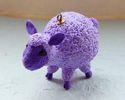 Christmas ornament figurine sheep animal totem by koshka741