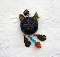 Bastet Pendant,handmade by koshka741