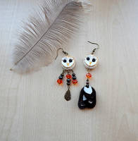 Barn owl earrings by koshka741