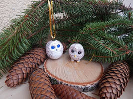 Christmas ornaments owls by koshka741