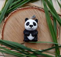 Panda bear necklace by koshka741