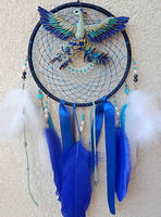 Dream catcher with blue phoenix