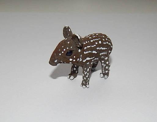 Malayan baby tapir figurine