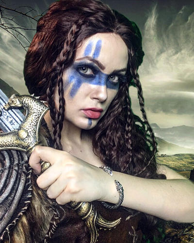 Viking Makeup Test By Nightingale Vixen On Deviantart