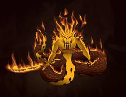 PS: Galtai, Salamander Warlord by kaitou-kage