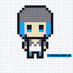 Chloe Price/ Life Is Strange Perler Bead Pattern by CrimsonsCreations