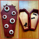 'Red Monster' Coffin Box by CrimsonsCreations