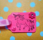 Pink Unicorn Ornament by CrimsonsCreations