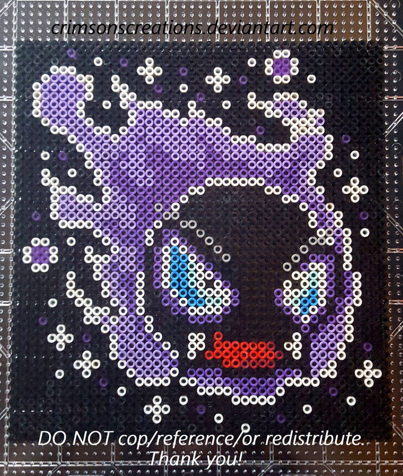Gastly Perler Portrait (FOR SALE) by CrimsonsCreations on