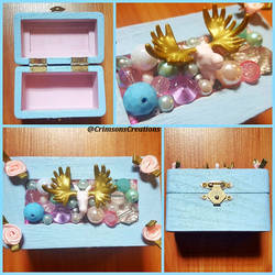 Pastel Moose Jewelry Box by CrimsonsCreations
