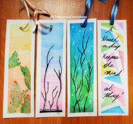 Watercolor Bookmarks by CrimsonsCreations
