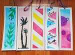 Watercolor Bookmarks 4 by CrimsonsCreations